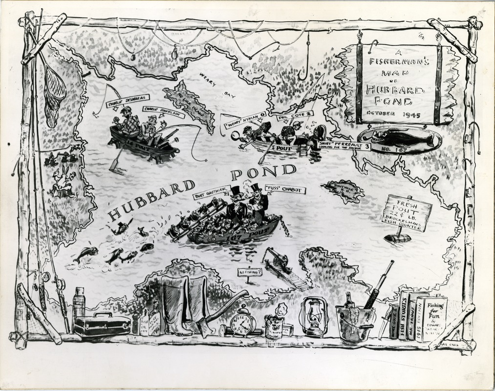 A Fisherman's Map of Hubbard Pond, New Hampshire