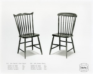 Ash Cupid's Bow Chair & Ash Crown Chair, S. Bent & Brothers, Inc.