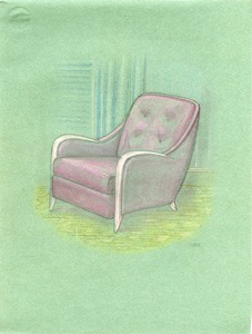 Colored drawing of a chair