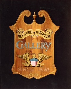 Heywood-Wakefield Company gallery plaque