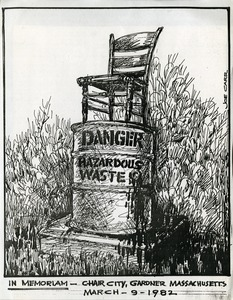 In Memoriam - Chair City, Joseph Carr Cartoon, 1982