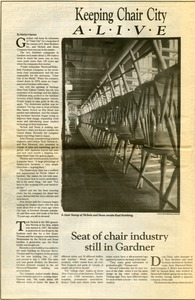 Keeping Chair City Alive, Gardner Today News and Entertainment Weekly, May 10, 1989