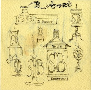 S. Bent & Brothers, Inc. napkin sketches -back