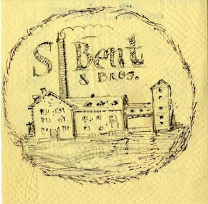 S. Bent & Brothers, Inc. napkin sketches -front