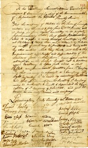 Petition from the inhabitants of the town of Limington for a light infantry company, October 31, 1795