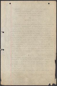 Sacco-Vanzetti Case Records, 1920-1928. Commonwealth v. Vanzetti (Bridgewater Trial).Extracts from Testimony Given by the Commonwealth's Witnesses, n.d. Box 2, Folder 4, Harvard Law School Library, Historical & Special Collections