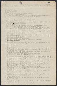 Sacco-Vanzetti Case Records, 1920-1928. Commonwealth v. Vanzetti (Bridgewater Trial). Examination of Jurors in regard to shells opened by Foreman Burgess in the Bridgewater Trial: Henry S. Burgess, 1920. Box 2, Folder 6, Harvard Law School Library, Historical & Special Collections