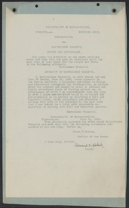 Sacco-Vanzetti Case Records, 1920-1928. Commonwealth v. Vanzetti (Bridgewater Trial). Motion for Continuance and Vanzetti Affidavit, June 23, 1920. Box 2, Folder 20, Harvard Law School Library, Historical & Special Collections