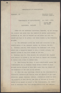 Sacco-Vanzetti Case Records, 1920-1928. Commonwealth v. Vanzetti (Bridgewater Trial). Motion for New Trial, 1920-1921. Box 2, Folder 22, Harvard Law School Library, Historical & Special Collections
