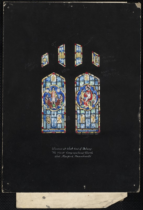 Window at west end of balcony, the First Congregational Church, West Medford, Massachusetts