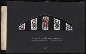 Design for transom window over main entrance, Union Congregational Church, Wollaston, Mass.