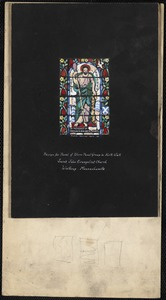 Design for panel of three panel group in north wall, Saint John Evangelist Church, Winthrop, Massachusetts