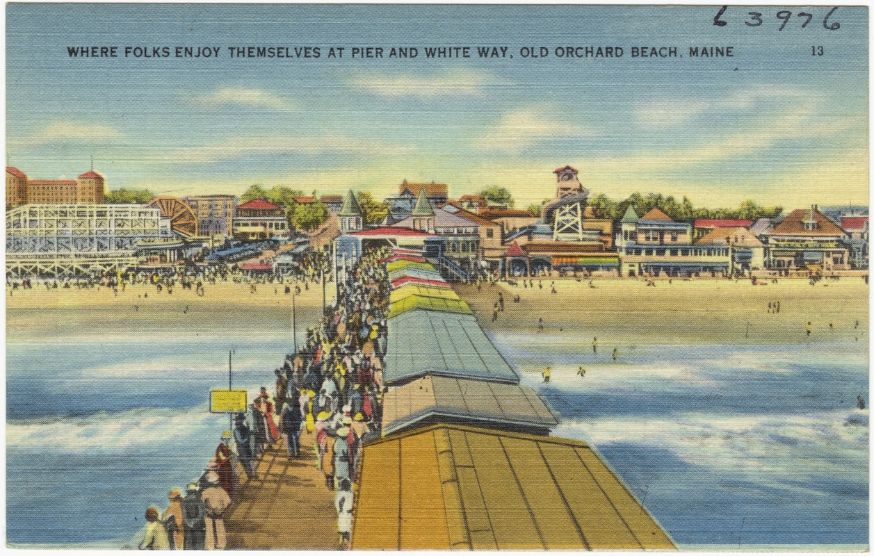 Where Folks Enjoy Themselves At Pier And White Way Old Orchard Beach Maine