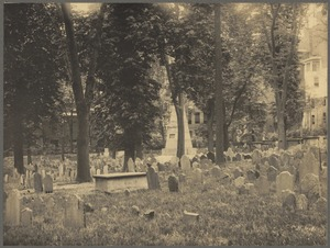 Old Granary Burying Ground showing the Franklin cenotaph