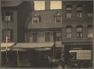 The Mather-Eliot House, near corner of Hanover and North Bennet Streets