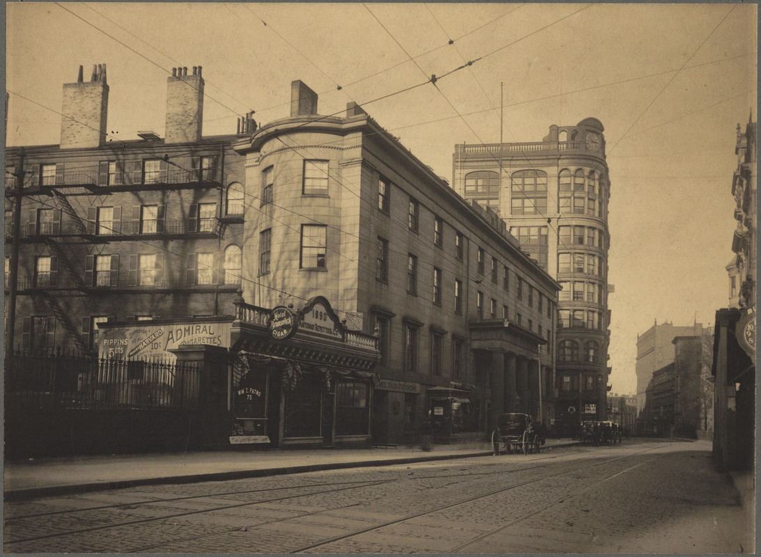 Tremont House, corner of Tremont Street and Beacon Street