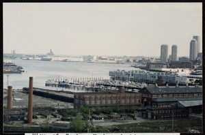 View of Boston Harbor looking towards downtown and South Boston