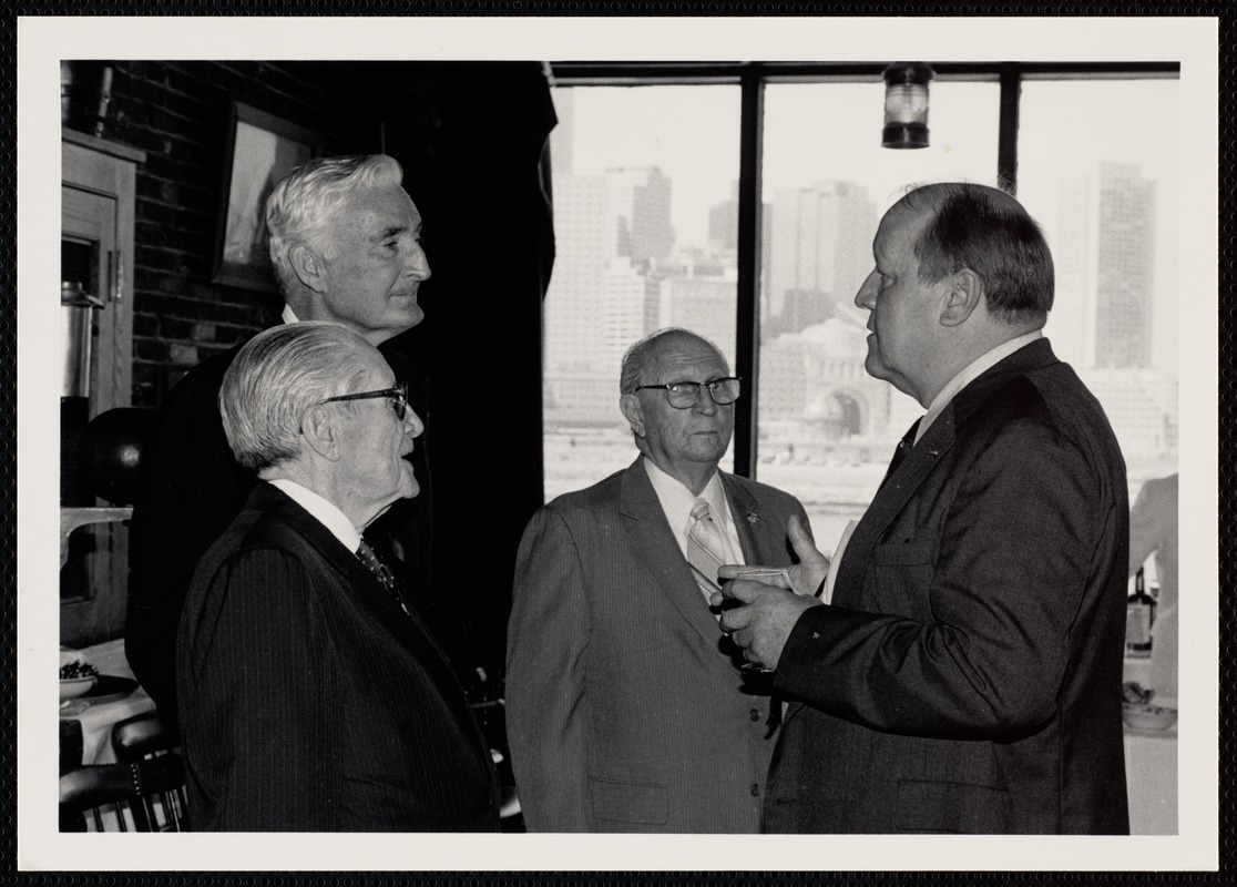 Arthur Lane with Teddy Gleason, Walter Sullivan, and Bob Calder