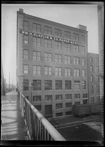 WM. H. Claflin & Co. Paper Warehouse (side) Summer St. to S. Station, from bridge