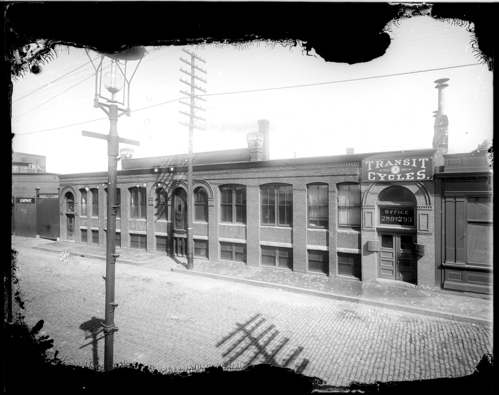 "289-293 ""A"" Street, Transit Cycles office, Albert & J.M. Anderson, machinists"