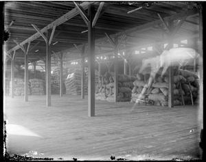 Interior of wool warehouse