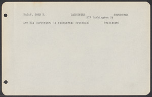 Sacco-Vanzetti Case Records, 1920-1928. Defense Papers. Jury List: Eagan-Jenkins, n.d. Box 3, Folder 10, Harvard Law School Library, Historical & Special Collections