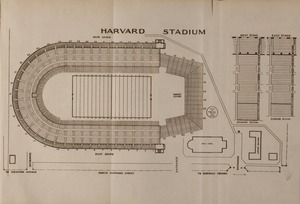Blue book of Newton ... containing lists of the leading residents, societies, etc. with street directory and new map. - Harvard Stadium Map - -