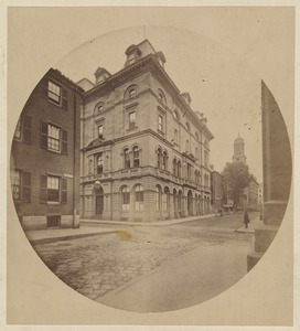 Chauncy Place, from corner of Bedford St., 1860