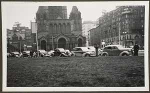 Copley Square, view of Trinity Church