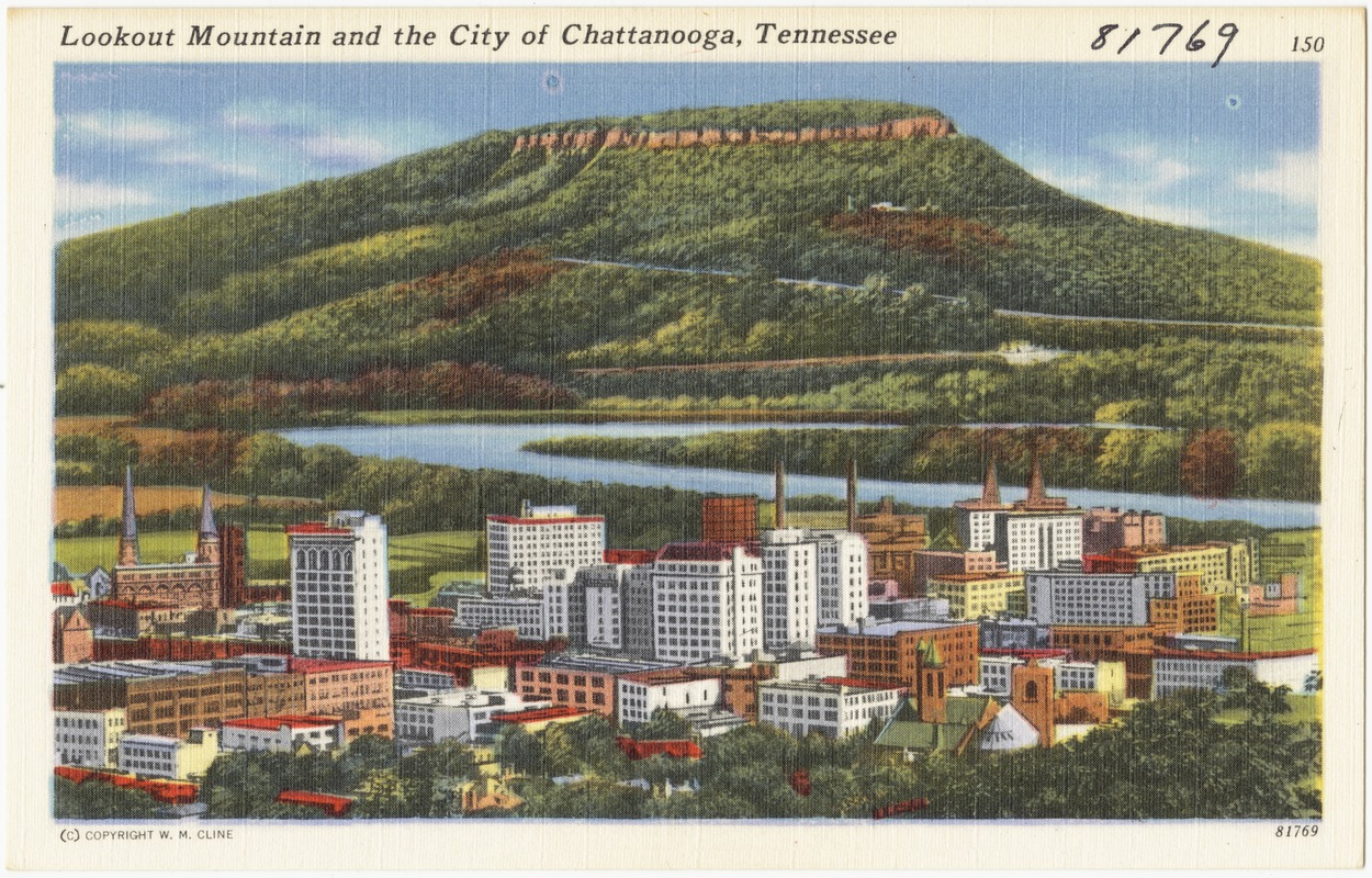Lookout Mountain and the city of Chattanooga, Tennessee
