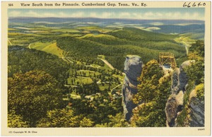 View South from the Pinnacle, Cumberland Gap, Tenn., Va., Ky.