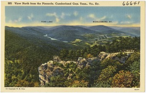 View north from the Pinnacle, Cumberland Gap, Tenn., Va., Ky.