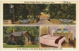 Smoky Heights Resort, Gatlinburg, Tenn., at the entrance to the Great Smoky Mountains National Park