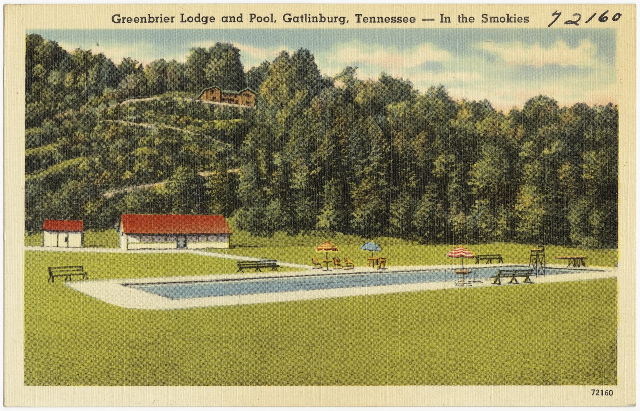 Greenbrier Lodge and pool, Gatlinburg, Tennessee -- In the Smokies