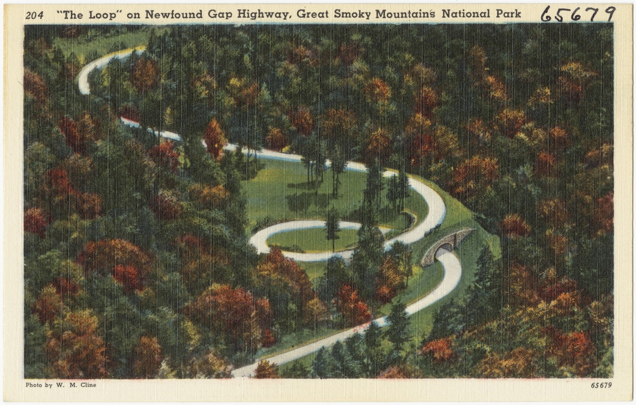 """""""The Loop"""" on Newfound Gap Highway, Great Smoky Mountains National Park"""