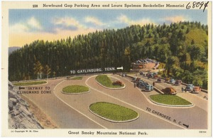 Newfound Gap parking area and Laura Spelman Rockefeller Memorial, Great Smoky Mountains National Park