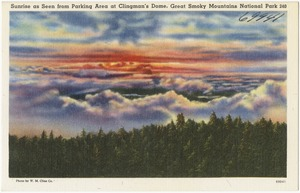 Sunrise as seen from parking area at Clingman's Dome, Great Smoky Mountains National Park