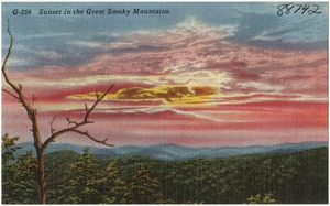 Sunset in the Great Smoky Mountains.