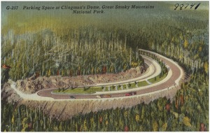 Parkin space at Clingman's Dome, Great Smoky Mountains National Park