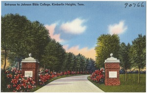 Entrance to Johnson Bible College, Kimberlin Heights, Tenn.