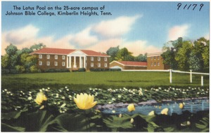The Lotus pool on the 25-acre campus of Johnson Bible College, Kimberlin Heights, Tenn.
