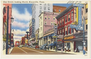 Gay Street, looking north, Knoxville, Tenn.