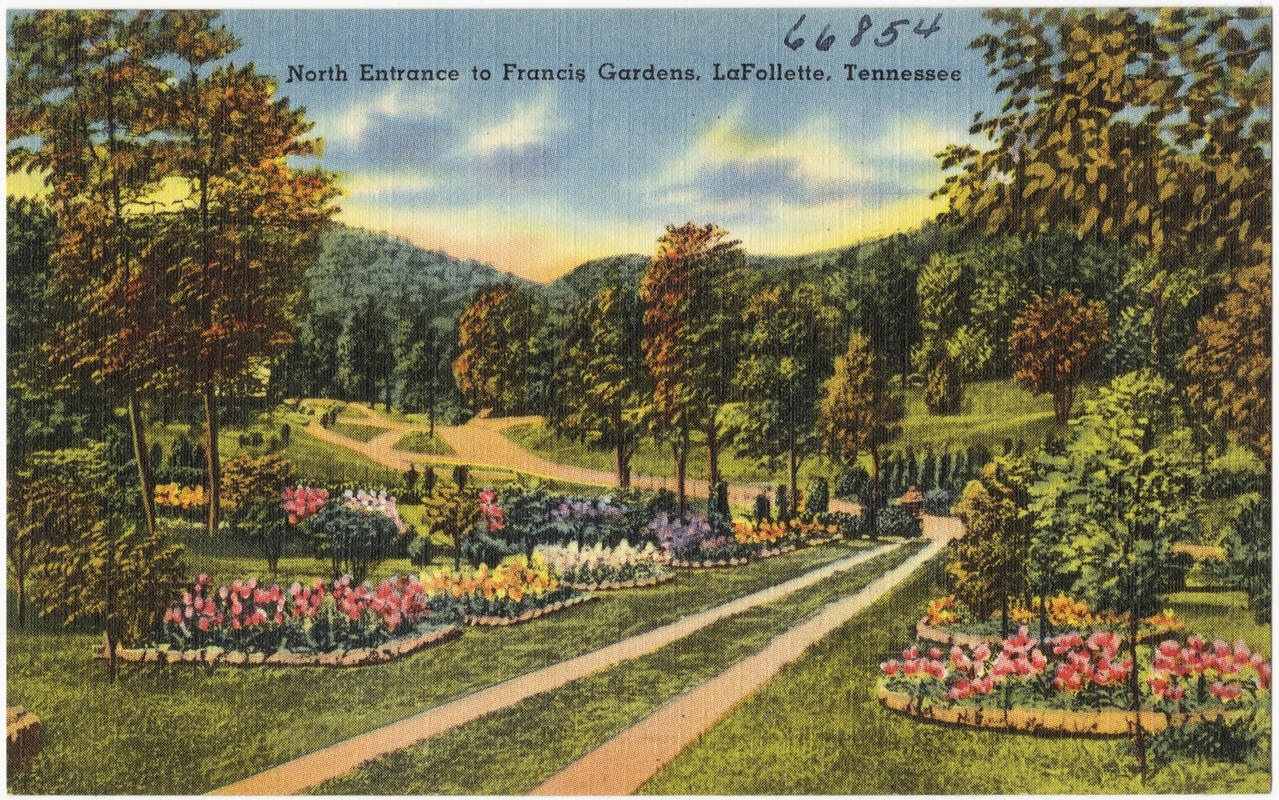 North entrance to Francis Gardens, LaFollette, Tennessee - Digital ...