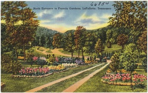 North entrance to Francis Gardens, LaFollette, Tennessee