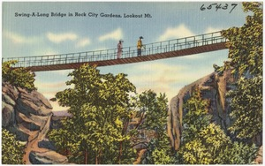 Swing-A-Long Bridge in Rock City Gardens, Lookout Mt.