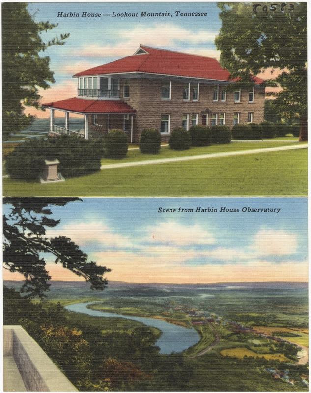 Harbin House -- Lookout Mountain, Tennessee. Scene from Harbin House Observatory