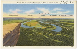 See 7 states from Point Lookout, Lookout Mountain, Tenn.