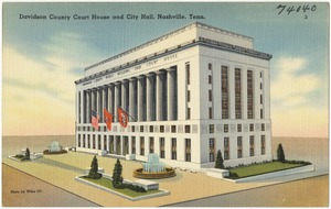 Davidson County Court House and City Hall, Nashville, Tenn.