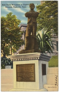 Sam Davis Monument in capitol grounds, Nashville, Tenn.