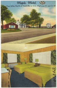 Maple Motel, four miles north of Nashville on U.S. highways 41 and 31-W